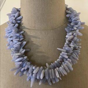 Brilliant Light Blue Gray Multi Stone Necklace